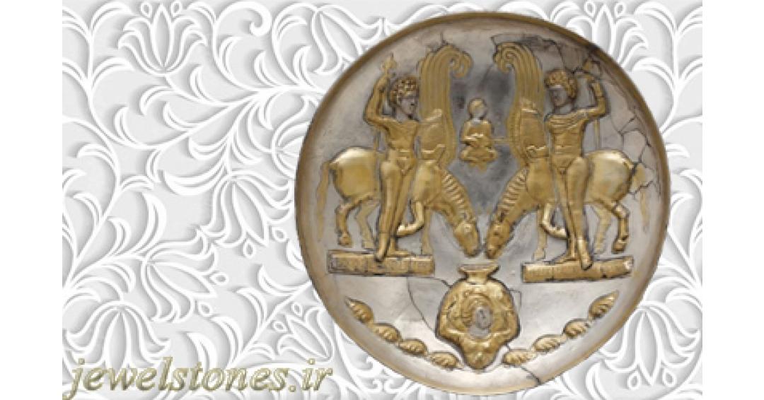 بشقاب سیمین ساسانی